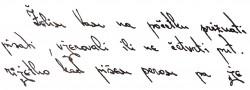 Slika 5 - Obrnut rukopis zatvorenih osoba